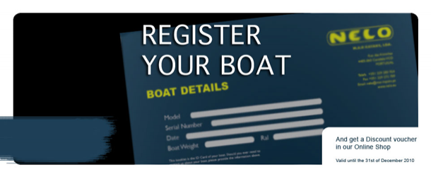 Register your boat and get a Discount voucher in our Shop
